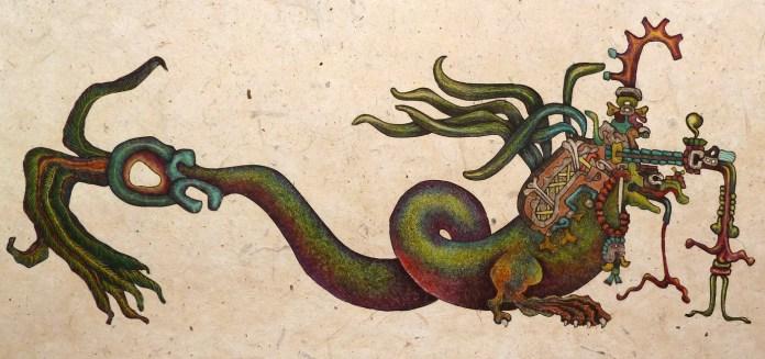 Itzamna created the fourth world.