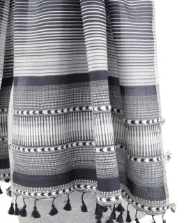 Only a master weaver can achieve this level of striping elegance and fine finishing--Dayalal Kudecha is one.