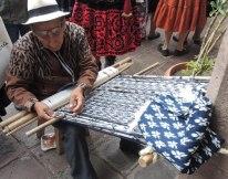Jose Jimenez from Ecuador weaving a Makana
