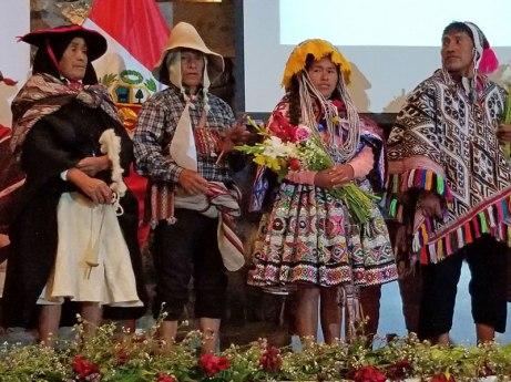 Fashion show of traditional wedding garb