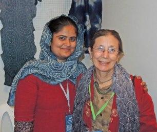 Zakiya Adil Khatri (left) with her mentor, Judy Frater.