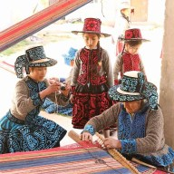 Young Weavers of Santo Tomas Chumbivilcas photograph an elder weaver at work