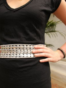 Belt made of silver by Akha artisans for Ma Tè Sai.