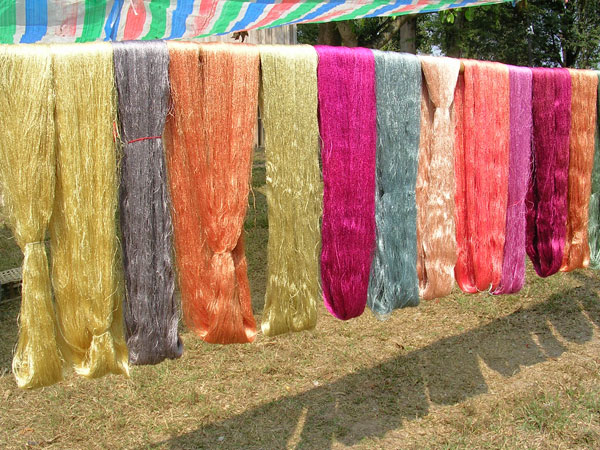 Luscious naturally dyed silk.