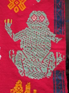 Motif using supplementary weft is a traditional weave structure.