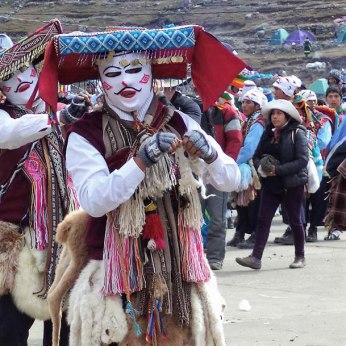 Revelers at a festival in Chinchero.