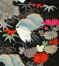 Detail: Wedding Robe; Uchikake, Japan, c. 1900. Silk; metallic threads. USC Pacific Asia Museum Collection. Gift of Mrs. Arnold J. Gordon.