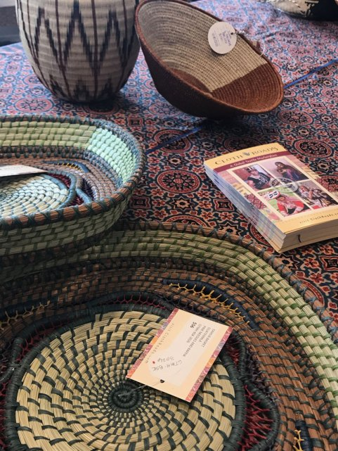 Baskets from Africa, Colombia, Guatemala, and Indonesia