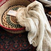 Raw Silk scarves from Madagascar.
