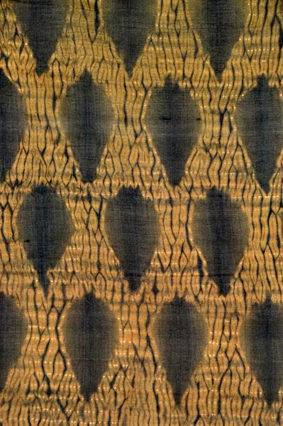 "aea545ca8c125 Detail pattern of a stitched shibori ""mokume"" or wood-grain design."