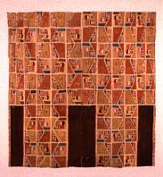 Image PC.B.497 Tunic; Wari, Middle Horizon AD 650-800; 119.5 x 112.1 (47.1 x 44.1); wool, cotton.