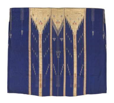 Artists unknown (Ottoman Syria); Man's cloak (abaya), early 20th century; silk, cotton, metallic thread; weft-faced weave, slit tapestry technique, hand sewn. Promised gift of David and Elizabeth Reisbord. (L2017.74.12)