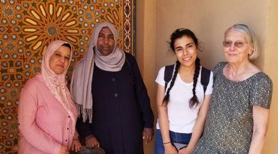 Our three Berber translators with Susan Shaefer Davis.