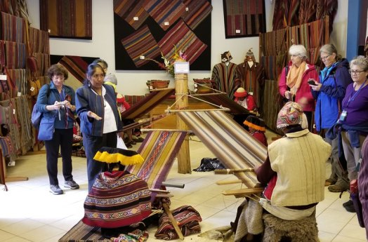 Andean Textile Arts tour visit the CTTC store in Cusco.