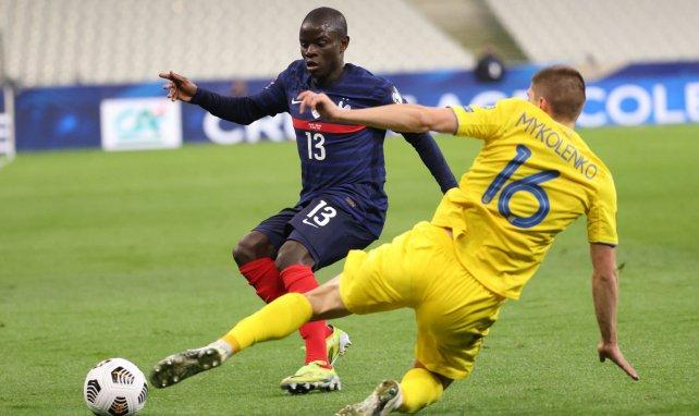 N'Golo Kanté au Stade de France lors du match contre l'Ukraine