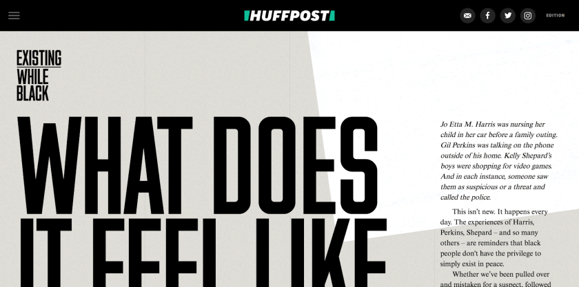 The same Huffpost article as in the abov image with2/3 of the image cut off.