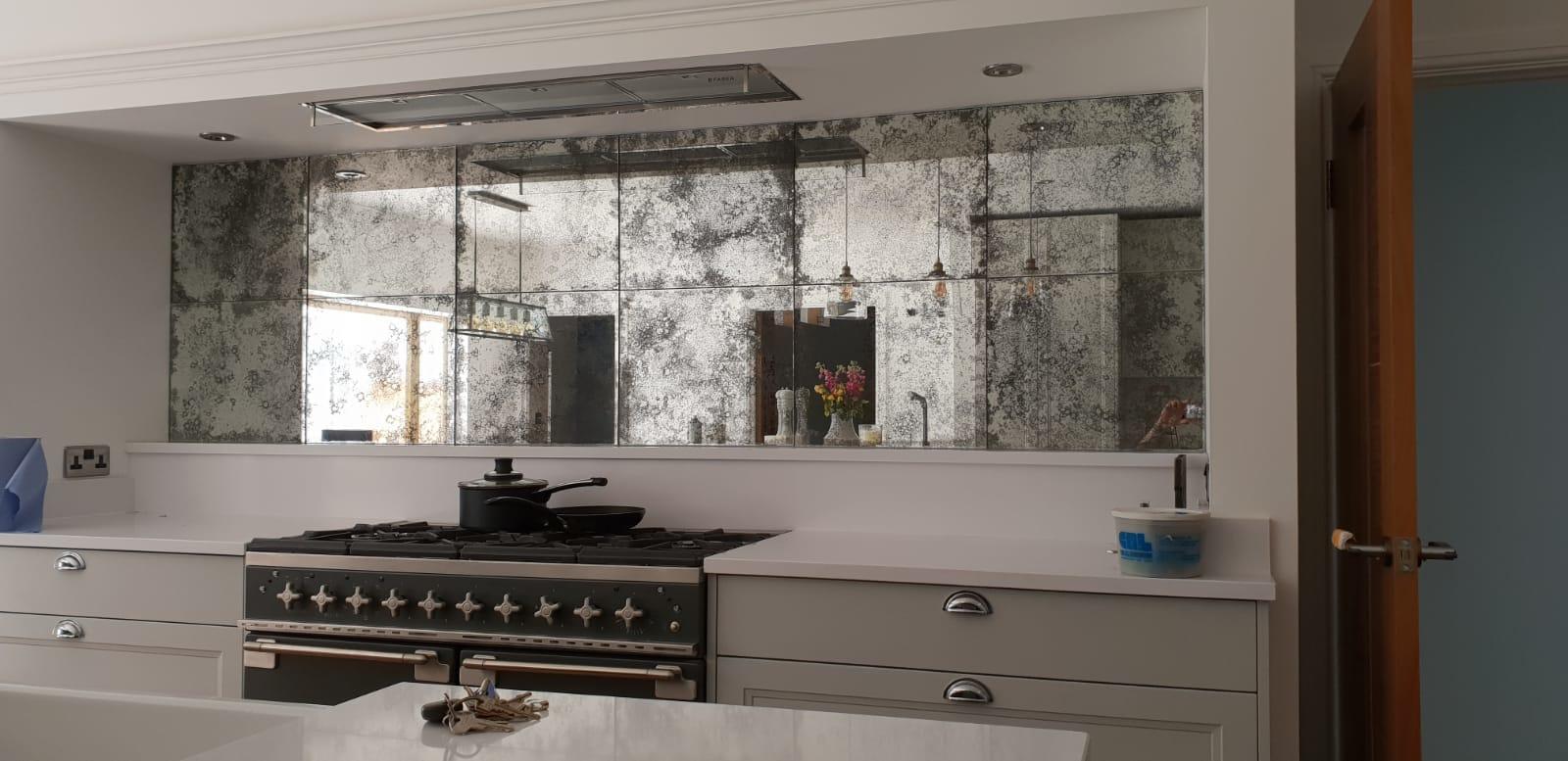 antique mirror tiles custom layouts