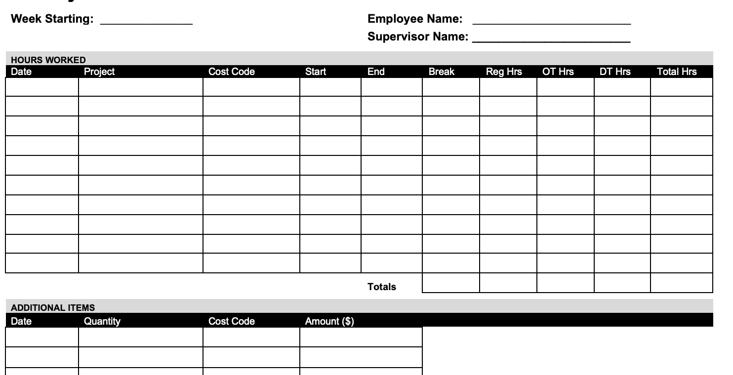 Experiment with suitable timesheet templates. 10 Free Timesheet Time Card Templates Word Excel Pdf Formats