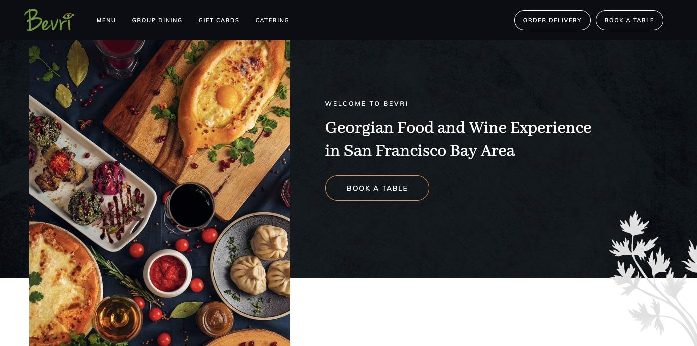 19 unique restaurant website design