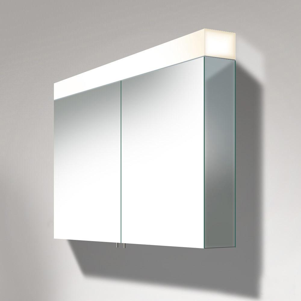 Duravit Vero 1000mm 2 Door Mirror Cabinet With Led