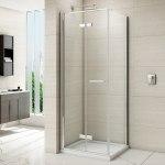 Merlyn 8 Series Frameless Hinged Bifold Shower Door 760mm
