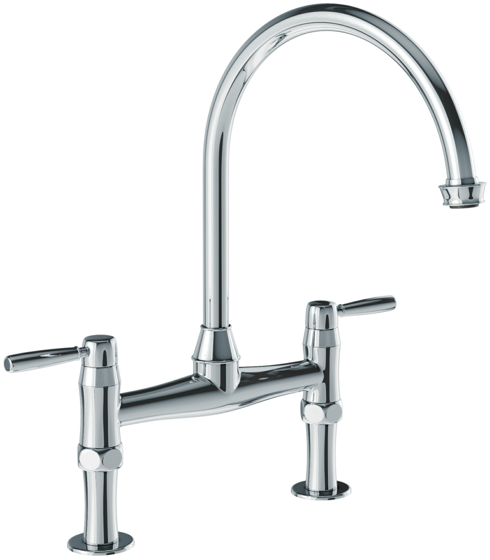 Abode Brompton Chrome Bridge Kitchen Mixer Tap