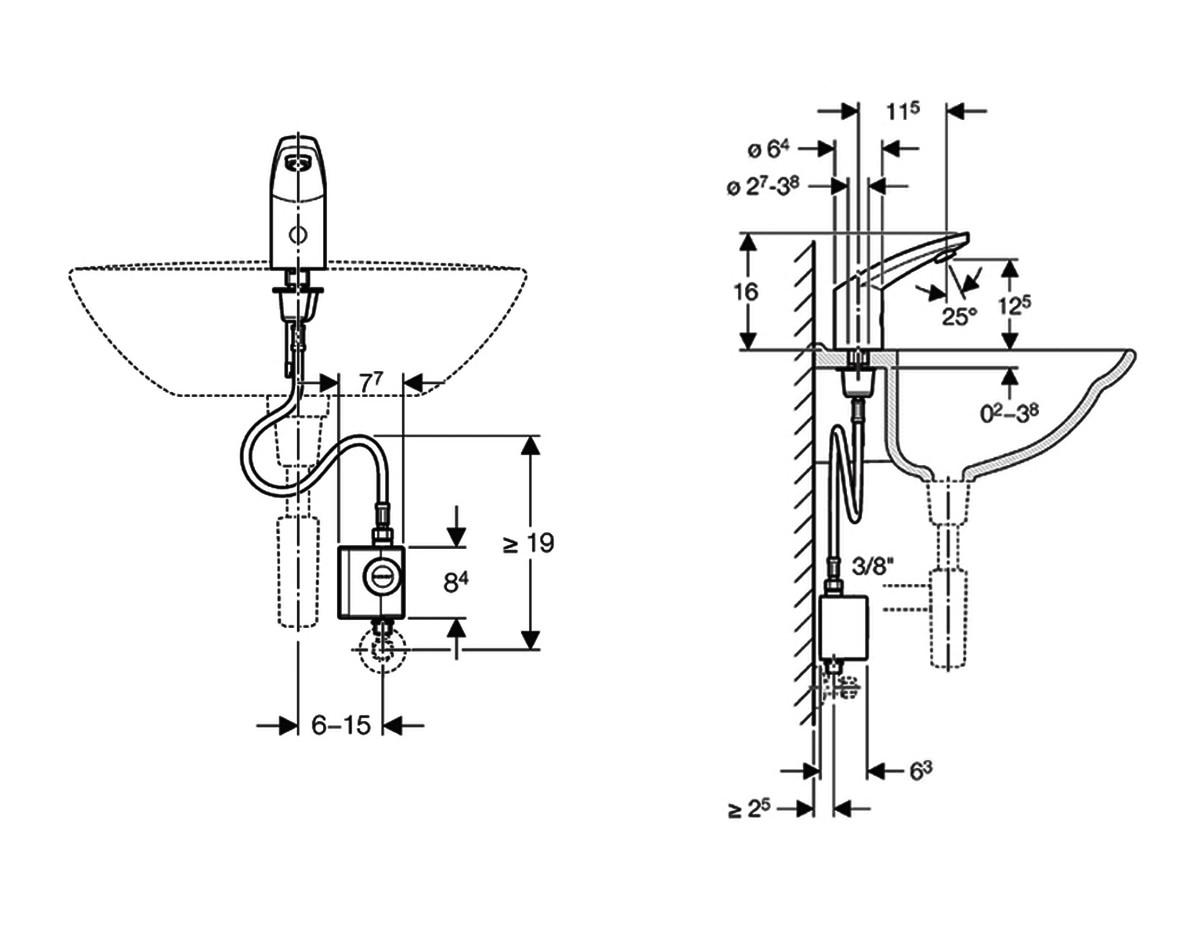 Geberit Type 185 Washbasin Tap With Generator