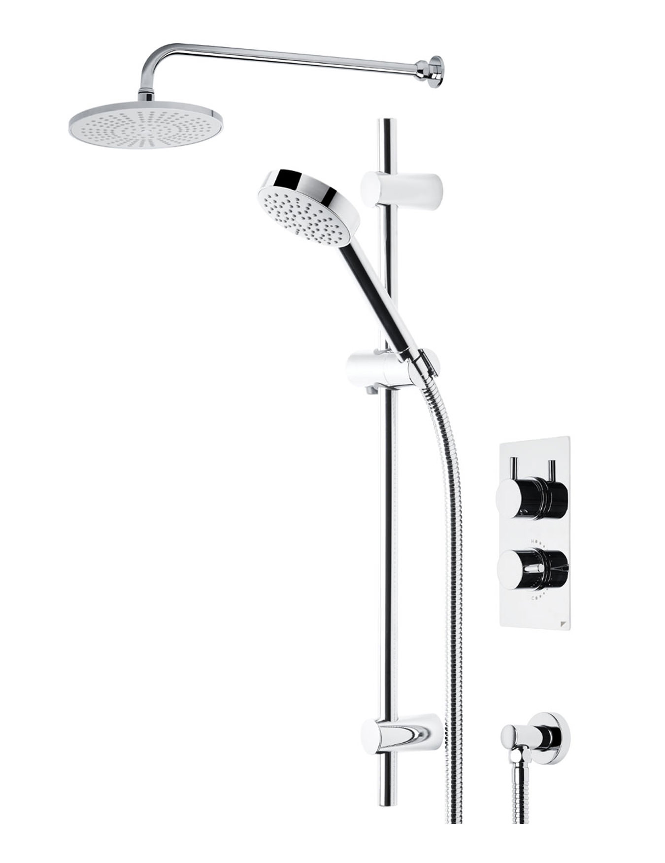 Roper Rhodes Event Round Dual Function Shower System With Fixed Shower Head