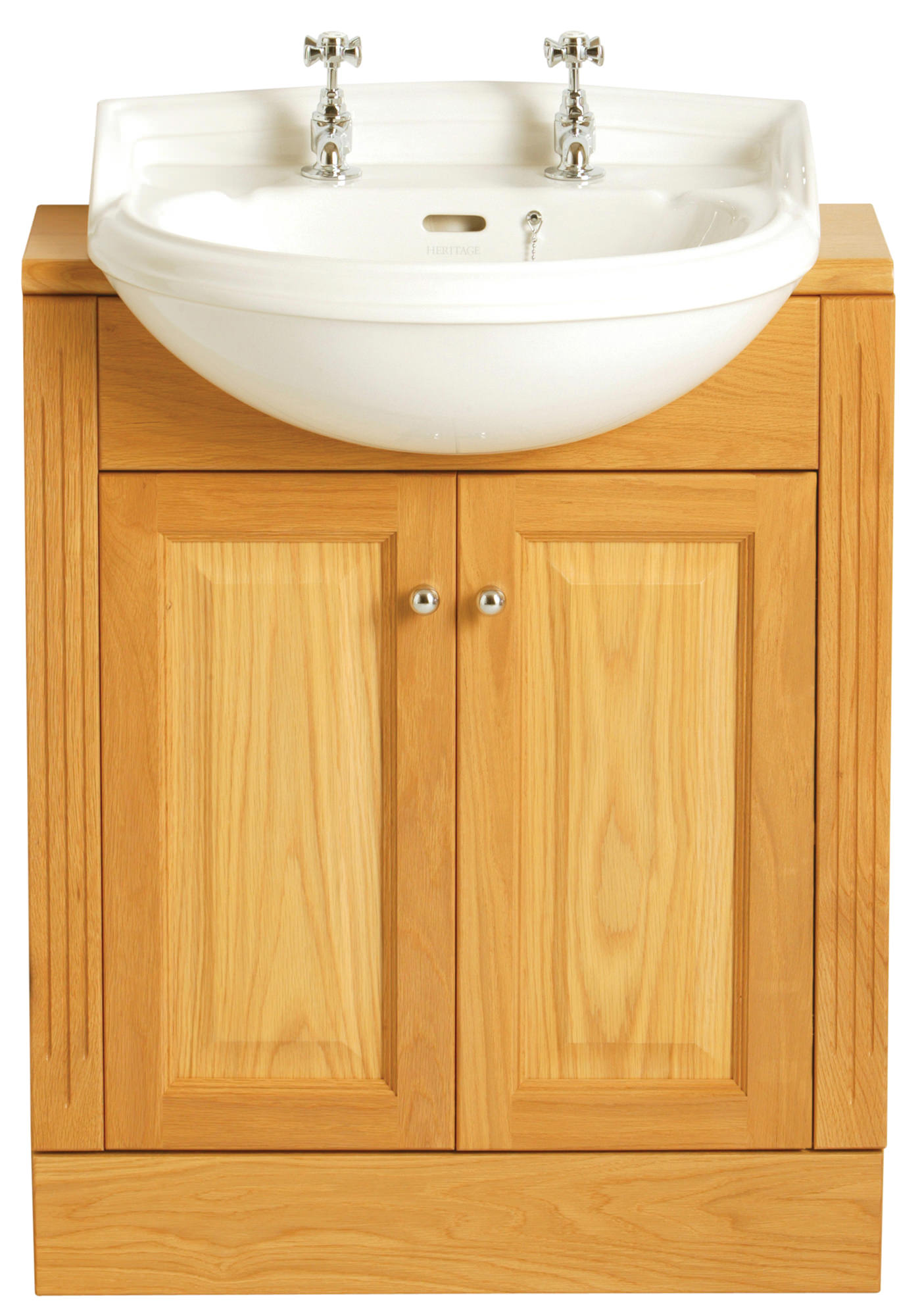 Heritage Dorchester 1 Taphole Medium Semi Recessed Basin