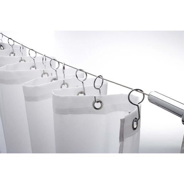 croydex wireline non hinged shower curtain rail ad107041