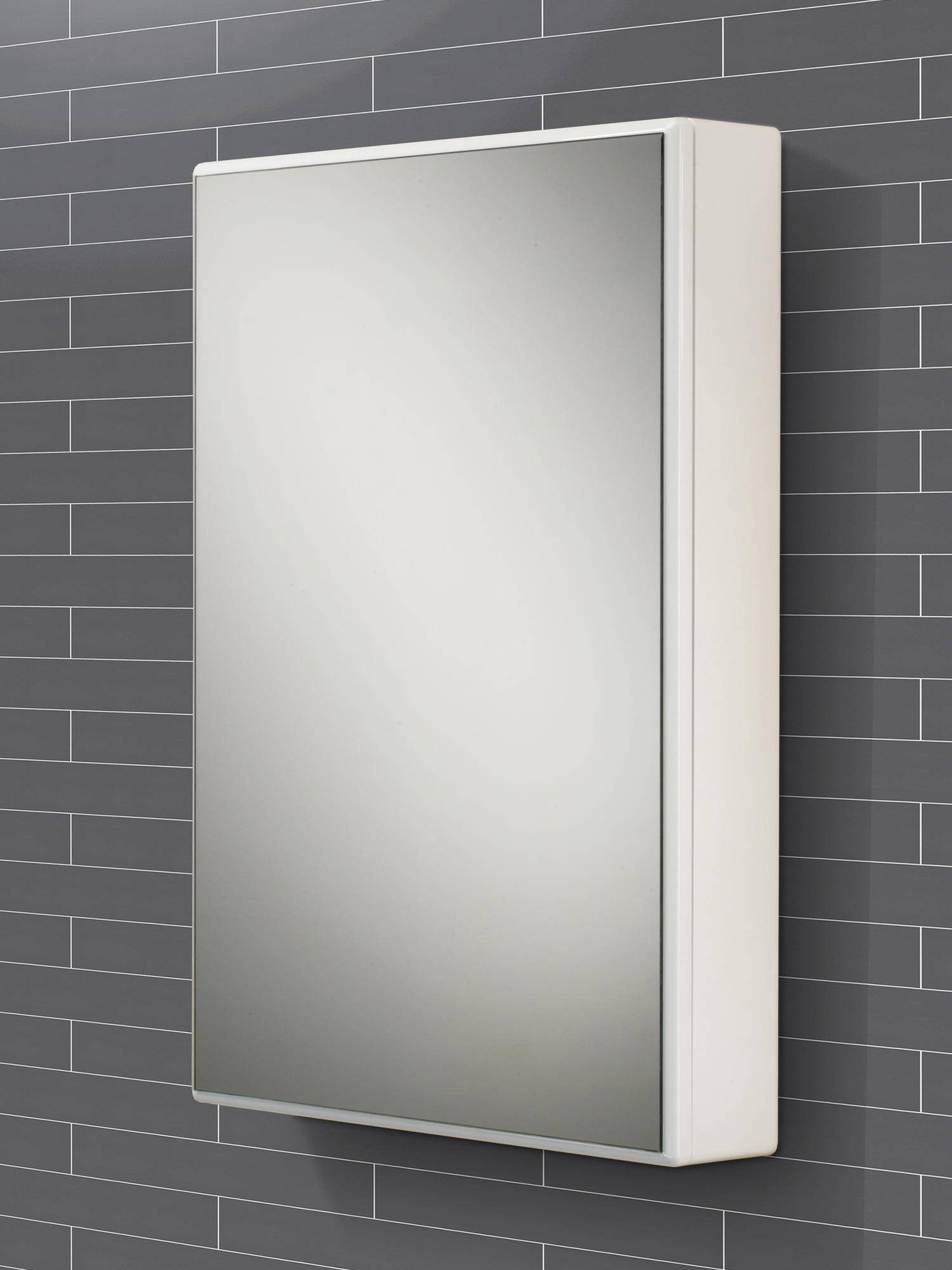 HIB Tulsa Slimline Single Door Mirrored Cabinet 500 X