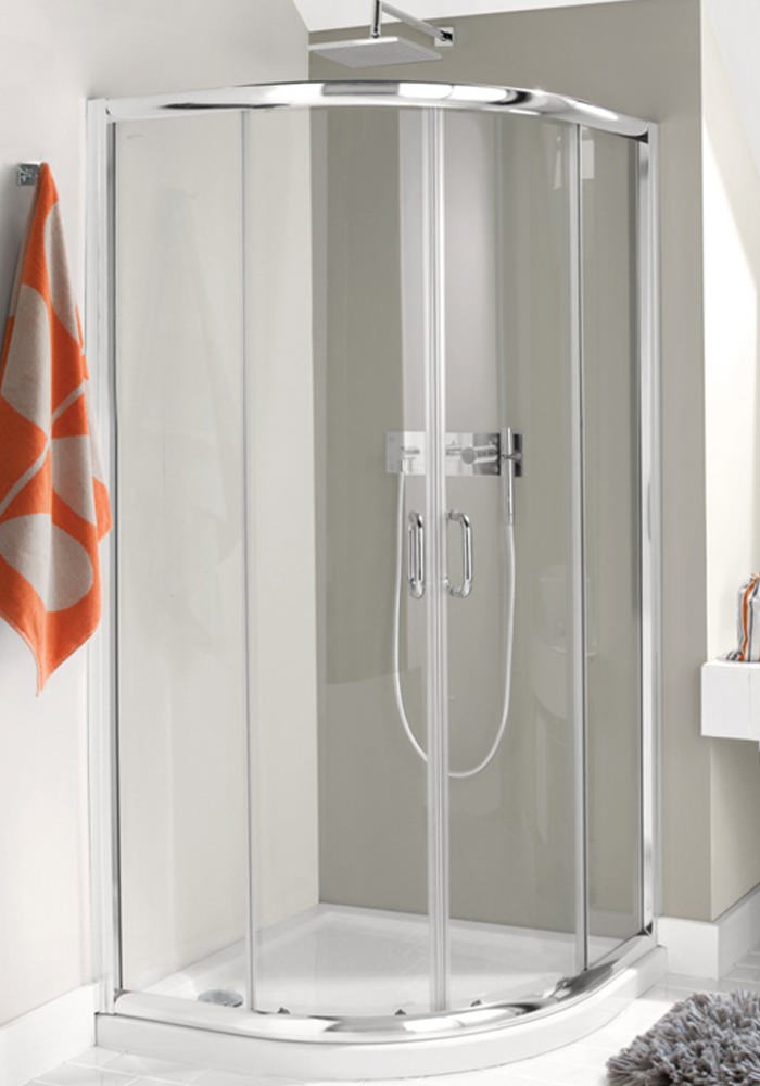 Simpsons Supreme Luxury 800 X 800mm Curved Quadrant Shower