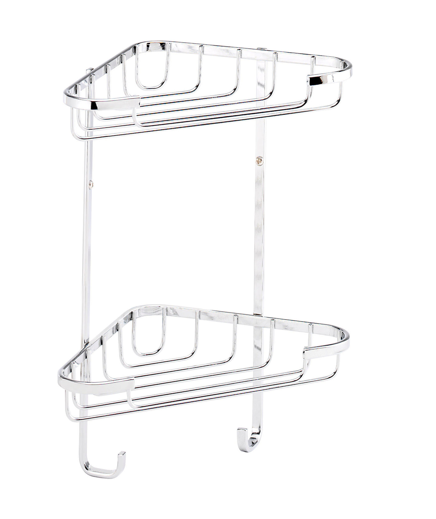 Croydex Stainless Steel Small 2 Tier Corner Basket