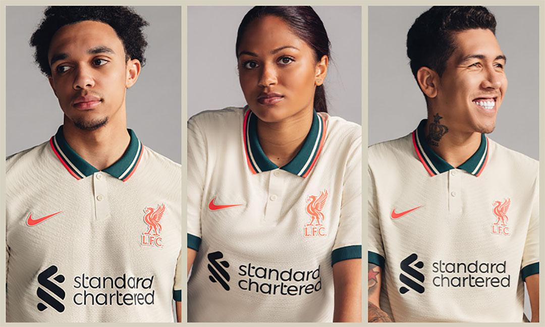 Nova camisa reserva do Liverpool FC 2021-2022 Nike » MDF