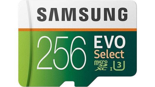 Samsung EVO 256GB MicroSD Card