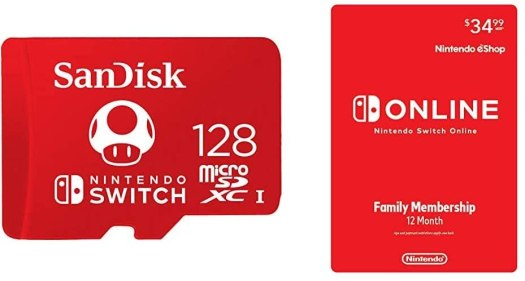 SanDisk 128GB MicroSD Memory Card with Nintendo Switch Online Family Membership - 12 Month