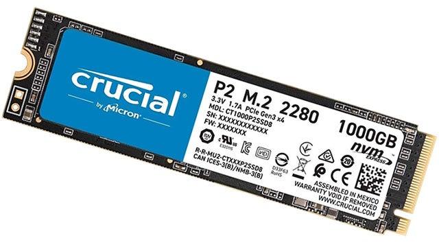 Crucial P2 1TB M.2 PCIe NVMe SSD