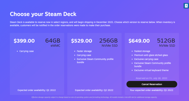 steam-deck-preorder-reservations-1626468013279 Valve Making Steam Deck 'As Quickly As We Are Able' With Release Staggered By Region And Model   IGN