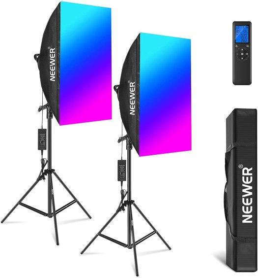 Neewer RGB LED Softbox Lighting Kit