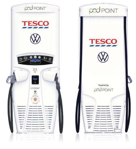 Co-branded Veefil RT - Podpoint, Tesco and Volkswagon.
