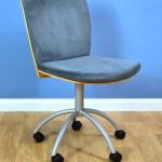 1 Of 3 Mid Century Modern Danish Alcantara Office Desk Chair By Cube Design Cube Design Vinterior