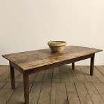 Antique French Farmhouse Rustic Coffee Table Vinterior