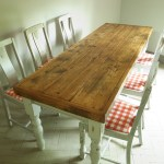 Vintage French Country Pine Farmhouse Dining Table 6 Chairs Rustic Shabby Chic Vinterior