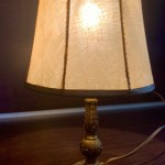 Vintage Mid Century Brass Table Lamp Circa 1950 S Vinterior