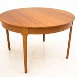 Round Folding Dining Table In Teak Vinterior