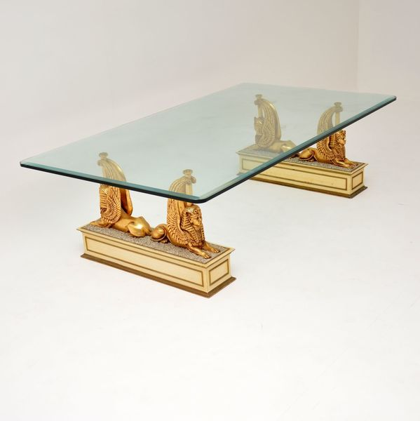 1970 s vintage egyptian inspired coffee table