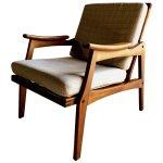 Mid Century Lounge Chair Teak Vintage Danish Style By Centa Circa 1960s Centa Vinterior