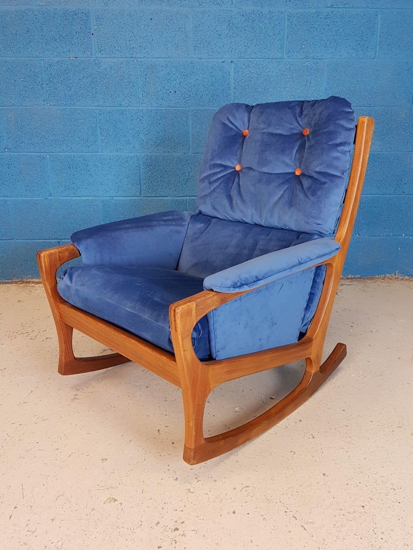 Vintage Retro Mid Century 1960 S Danish Teak Rocking Chair Vinterior