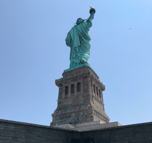 Staue Liberty Then And Now