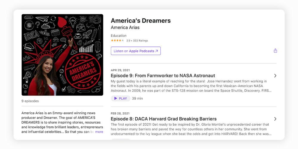 America's Dreamers podcast